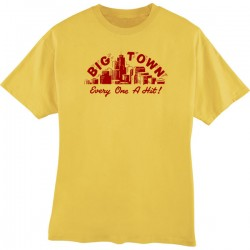 Big Town Records T-Shirt- Mustard- DOUBLE EXTRA LARGE