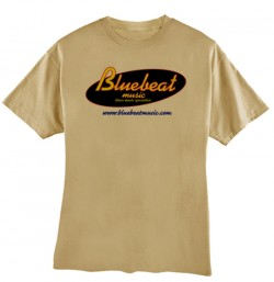 Bluebeat Music T-SHIRT- Tan  DOUBLE EXTRA LARGE